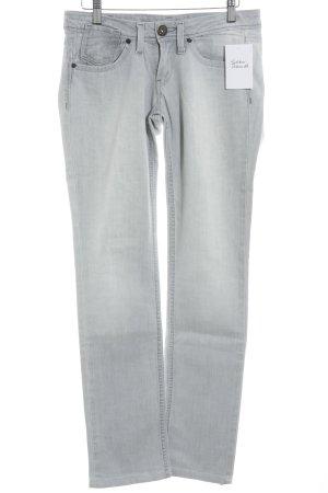 Pepe Jeans Straight-Leg Jeans hellgrau Used-Optik