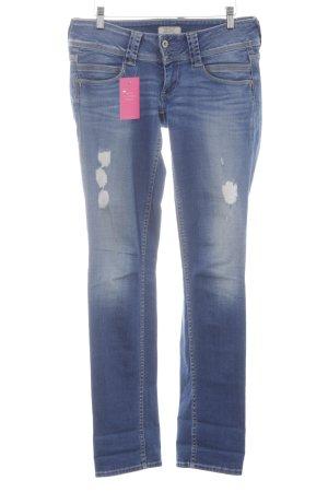Pepe Jeans Straight-Leg Jeans kornblumenblau Used-Optik