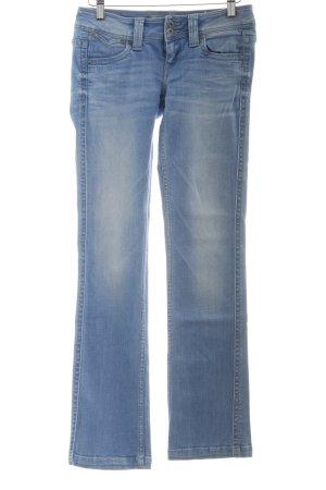 Pepe Jeans Straight-Leg Jeans kornblumenblau Washed-Optik