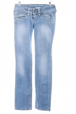 Pepe Jeans Straight-Leg Jeans kornblumenblau-wollweiß Washed-Optik