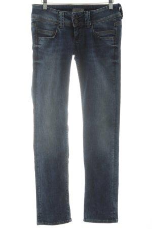Pepe Jeans Straight-Leg Jeans stahlblau-blassblau schlichter Stil