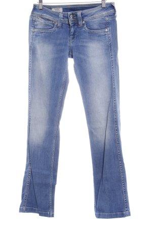 Pepe Jeans Straight-Leg Jeans stahlblau-hellbeige Casual-Look