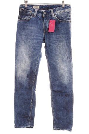 Pepe Jeans Straight-Leg Jeans stahlblau Jeans-Optik