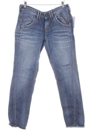 Pepe Jeans Straight-Leg Jeans stahlblau-kornblumenblau Destroy-Optik