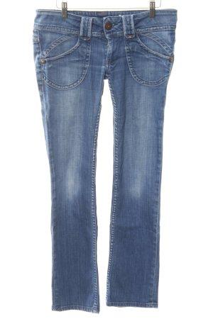 Pepe Jeans Straight-Leg Jeans stahlblau-kornblumenblau schlichter Stil