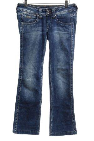 Pepe Jeans Jeans a gamba dritta blu acciaio puntinato stile casual