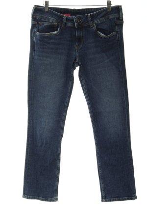 Pepe Jeans Straight-Leg Jeans stahlblau meliert Casual-Look
