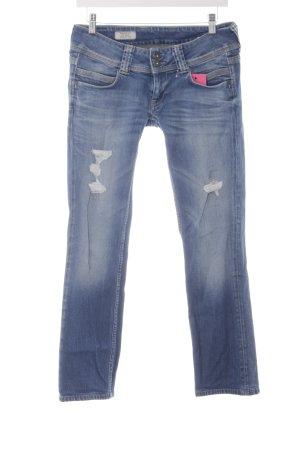Pepe Jeans Straight-Leg Jeans stahlblau sportlicher Stil