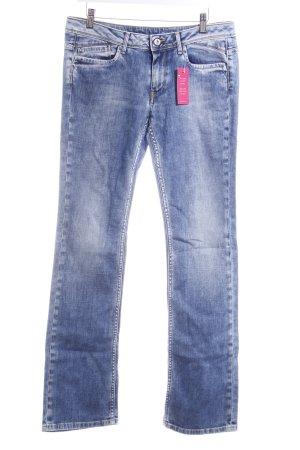 Pepe Jeans Straight-Leg Jeans stahlblau-weiß Casual-Look