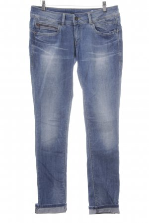 Pepe Jeans Jeans a gamba dritta blu acciaio-bianco sporco look pulito