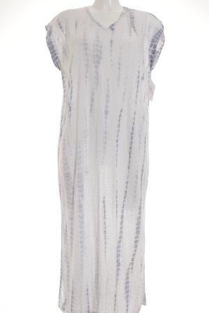Pepe Jeans Strandjurk wit-azuur batik patroon Boho uitstraling