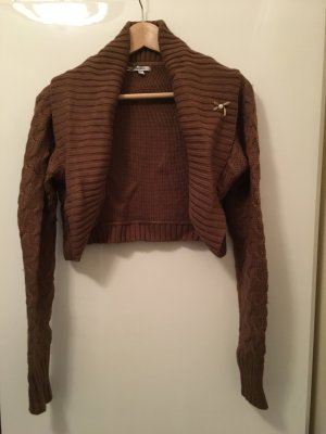 Pepe Jeans Knitted Bolero cognac-coloured