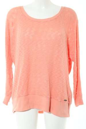 Pepe Jeans Strickpullover hellorange meliert Casual-Look