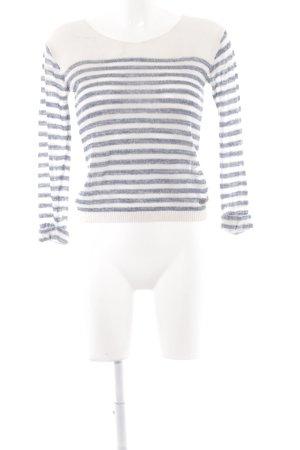 Pepe Jeans Strickpullover creme-dunkelblau Casual-Look