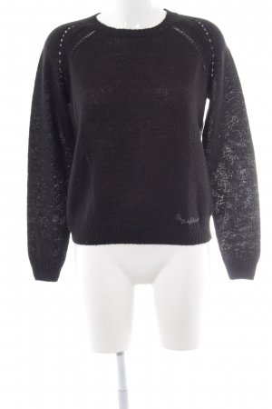 Pepe Jeans Strickpullover schwarz Casual-Look
