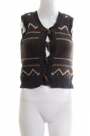 Pepe Jeans Strickweste abstraktes Muster Casual-Look