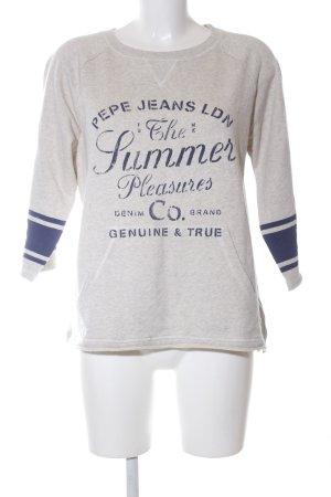 Pepe Jeans Sweatshirt hellgrau-blau Schriftzug gedruckt Casual-Look