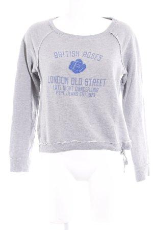 Pepe Jeans Sweatshirt grau-blau Motivdruck sportlicher Stil