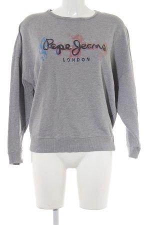 Pepe Jeans Sweatshirt hellgrau Casual-Look