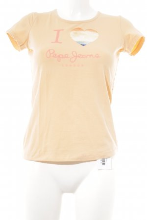 Pepe Jeans T-Shirt apricot-neonorange Motivdruck Casual-Look