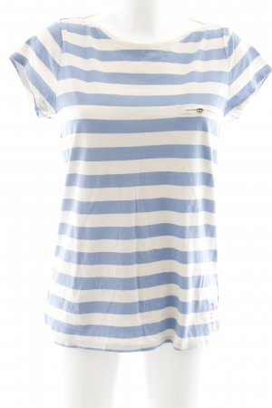 Pepe Jeans T-Shirt creme-hellblau Streifenmuster Casual-Look