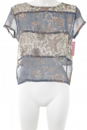Pepe Jeans T-Shirt florales Muster Materialmix-Look