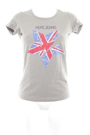 Pepe Jeans T-Shirt graubraun Casual-Look