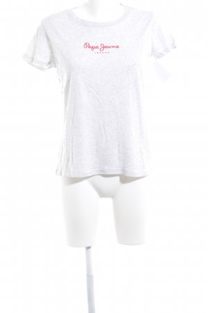 Pepe Jeans T-Shirt hellgrau meliert Casual-Look