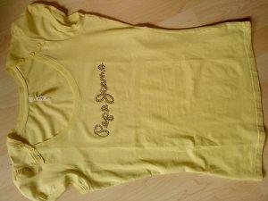 PEPE JEANS T-Shirt in gelb mit Straßsteinchen M