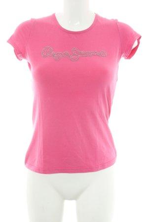 Pepe Jeans Camiseta rosa estilo deportivo