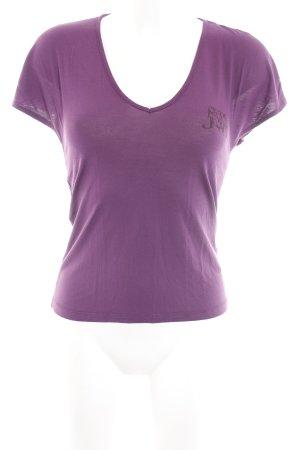 Pepe Jeans Camiseta púrpura look casual