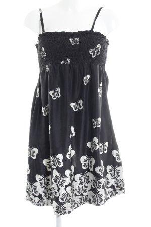 Pepe Jeans Trägerkleid schwarz-weiß abstraktes Muster Casual-Look