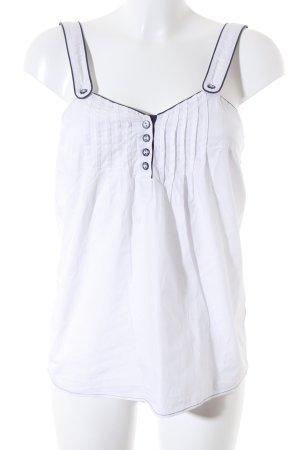 Pepe Jeans Trägertop weiß-dunkelblau Casual-Look