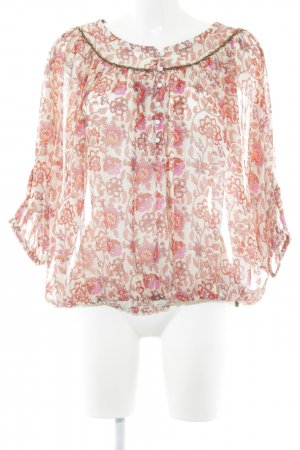 Pepe Jeans Transparenz-Bluse abstraktes Muster Casual-Look