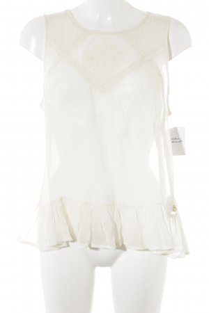 Pepe Jeans Transparenz-Bluse creme Casual-Look