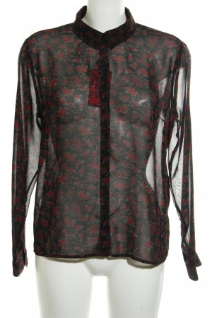 Pepe Jeans Transparenz-Bluse florales Muster Casual-Look