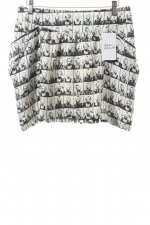Pepe Jeans Tulpenrock weiß-schwarz Allover-Druck extravaganter Stil