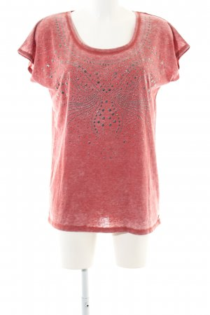 Pepe Jeans Boothalsshirt rood gestippeld casual uitstraling