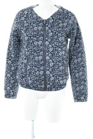 Pepe Jeans Übergangsjacke dunkelblau-weiß florales Muster Casual-Look