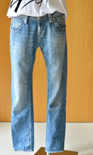 PEPE Jeans verwaschenes Blau used 27/32 29/32 Md.Idol Denim Straight Cut Boyfriend