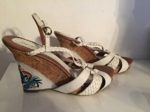 Pepe Jeans Strapped High-Heeled Sandals white leather