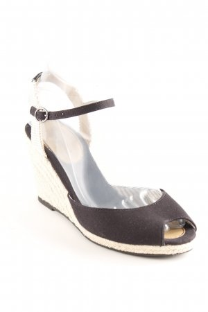 Pepe Jeans Wedges Sandaletten schwarz-creme Party-Look