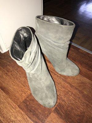 *Pepe Jeans* Wildleder-Stiefel Stiefelletten grau