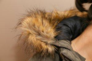 Pepe Jeans Winterjacke Gr.S Neu mit Etikett Fellimitat an der Kapuze