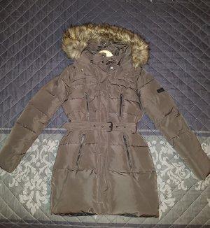 Pepe Jeans Manteau en duvet gris brun-noir