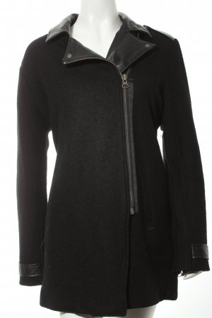 Pepe Jeans Wollmantel schwarz Street-Fashion-Look