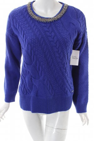 Pepe Jeans Wollpullover blau Casual-Look