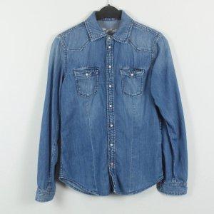 Pepe Jeans Spijkershirt blauw Gemengd weefsel