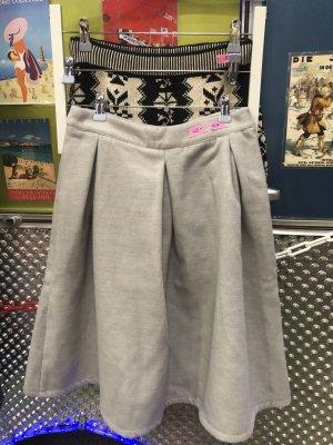 Pepe Runa Wool Skirt light grey