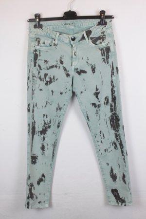 Pepe Slim Fit Jeans Gr. 30 grün mit Print